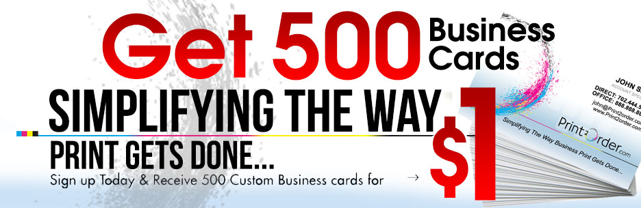 Get 500 Business Cards for $1